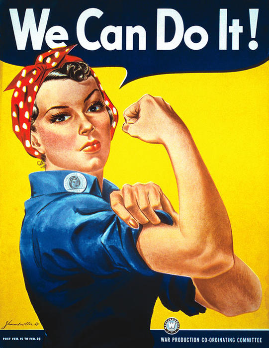 'Rosie the Riveter' was first born in the imagination of US war propagandists
