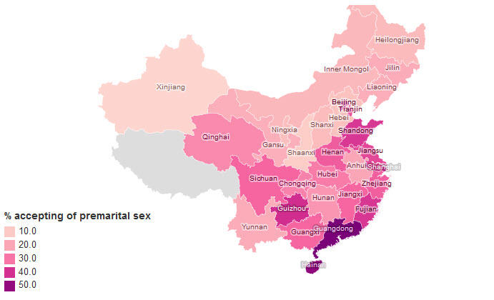 Attitudes to sex in China