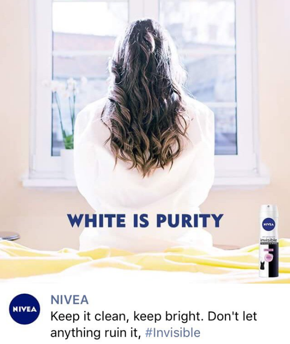 The main advertising image that left NIVEA with heavy backlash.