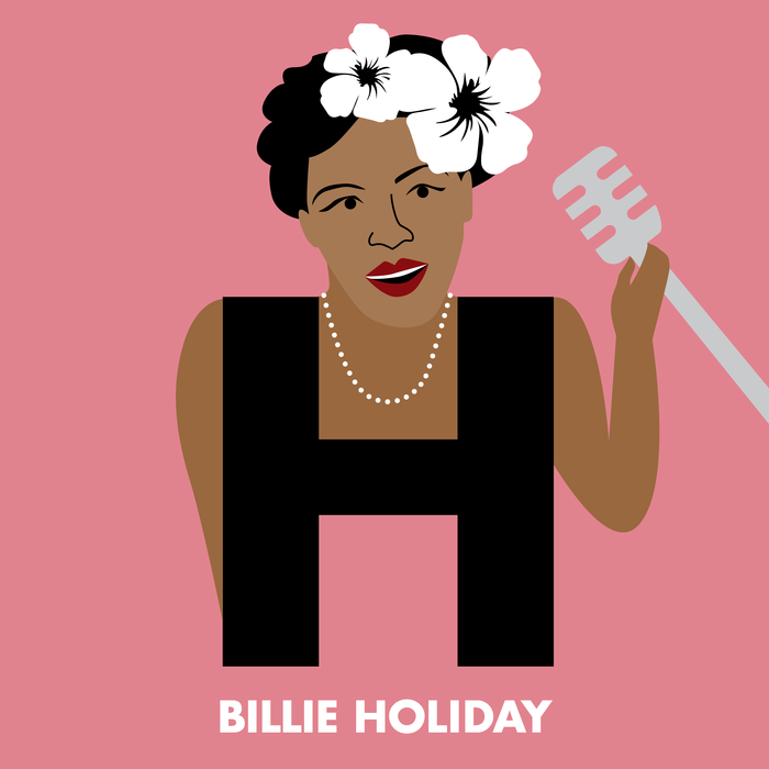 Billie Holiday from Beck Feiner's Lady Legends Alphabet