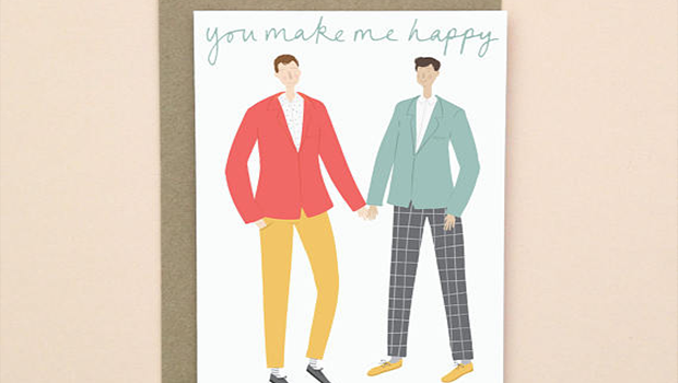 You Make Me Happy Valentine's Day card.