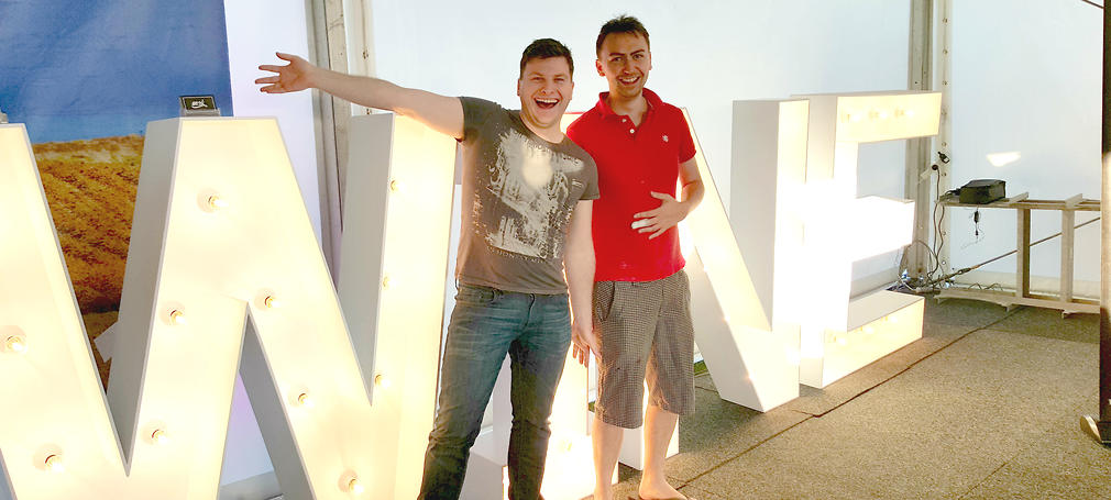 Rob Lindner (left) with his partner of almost five years, Stuart Cheverton.