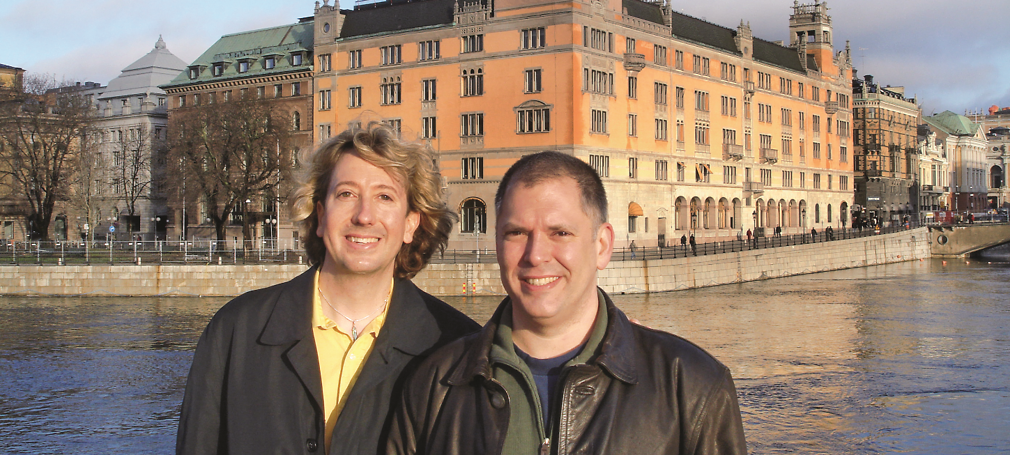 Jim and John on Vacation in Stockholm in 2012.