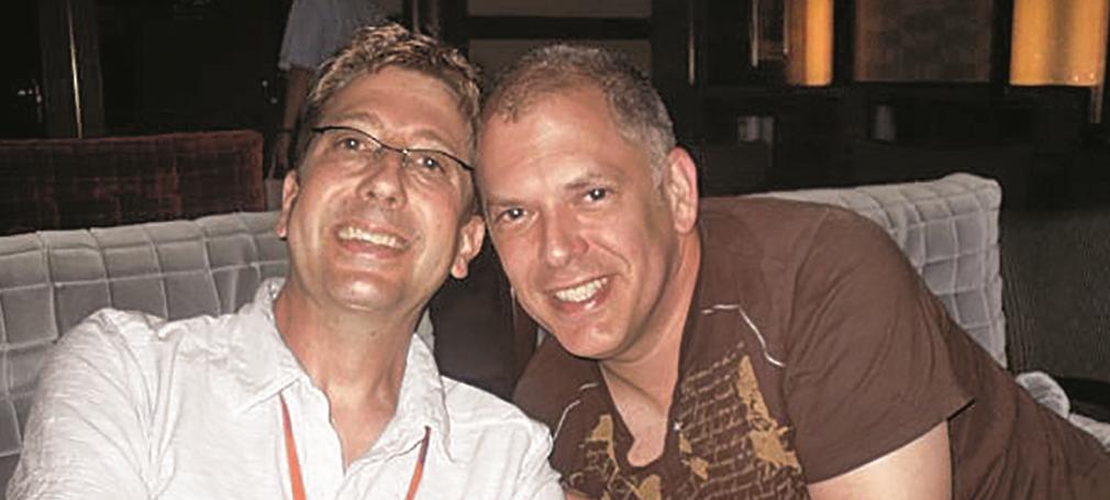 Jim and John in the Mediterranean in 2009.