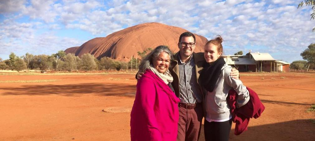 Uluru is in Paech's electorate which covers a large part of central Australia