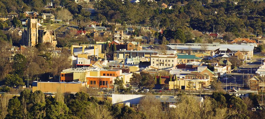 City center of Goulburn, NSW, Australia.