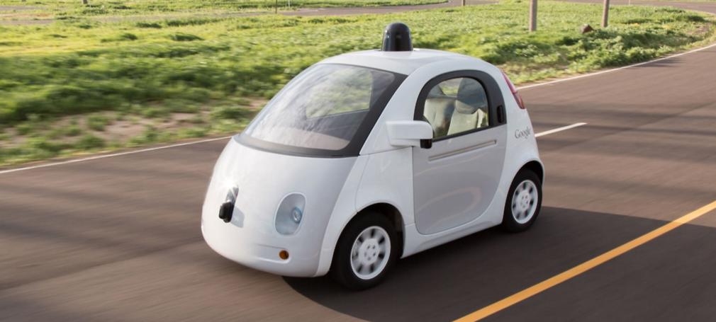 Google's pod-like test vehicle.