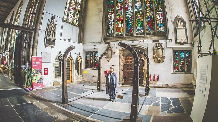 UK church hosts electric fence art installation to highlight