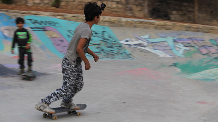 The idea of the skate park is that it's a community space.