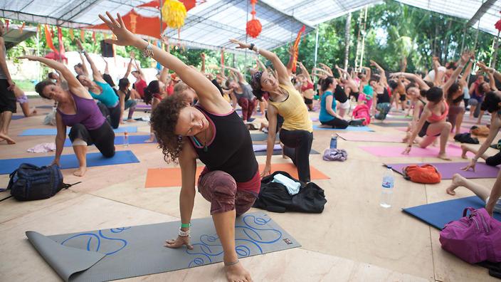 Yoga at Bali Spirit Festival