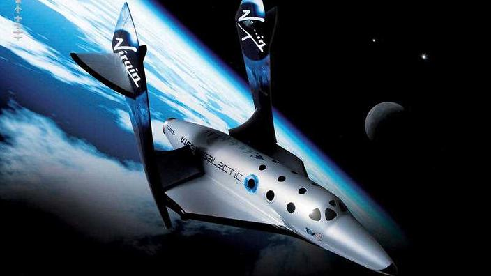 Virgin Galactic shows Virgin Galactic's first SpaceShipTwo, an air-launched suborbital spaceplane type designed for space tourism.