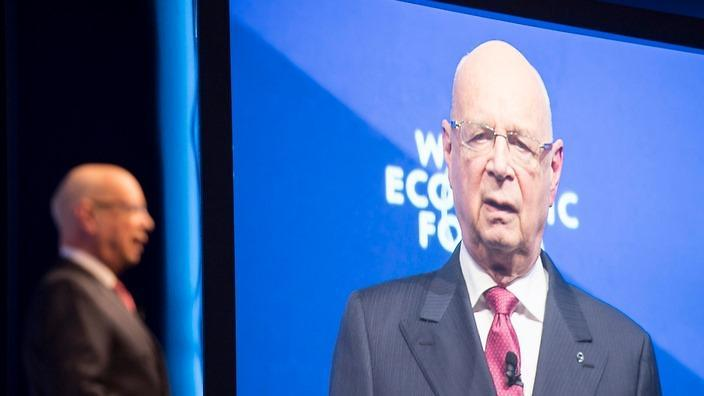 Klaus Schwab, founder and president of the World Economic Forum (WEF) opening the 47th Forum, in Davos, Switzerland