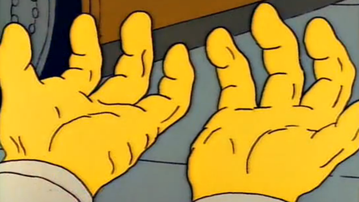 grampa abe hands simpsons