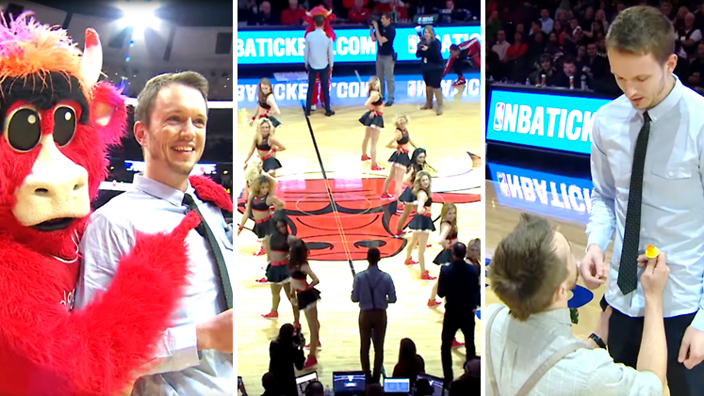 Nba Hosts First In Game Gay Marriage Proposal Sbs Sexuality