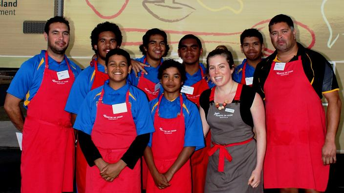 The Cherbourg community get involved in Jamie's Ministry of Food program in 2015