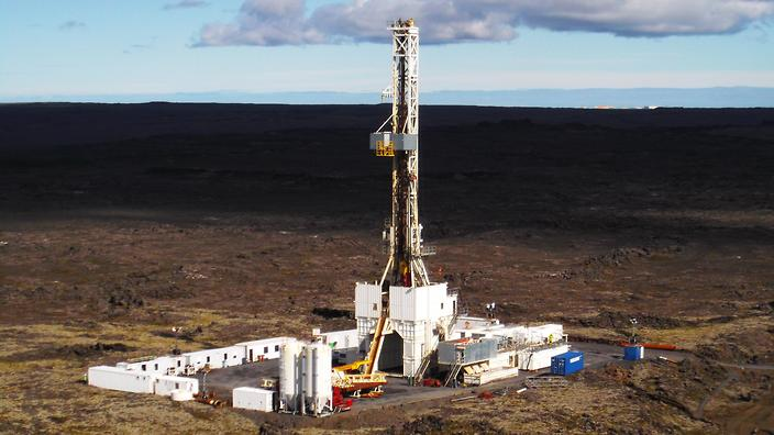 photo of the drill site on reykjanes peninsula
