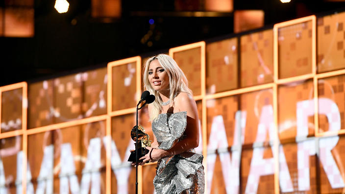 Taking home three trophies, Lady Gaga used her Grammy moment