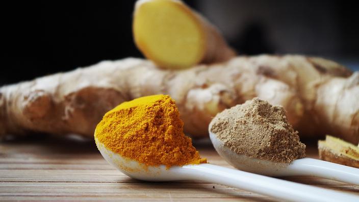 turmeric and ginger powder