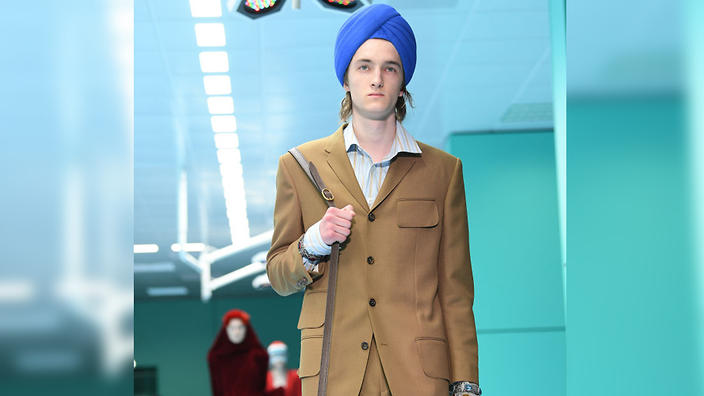 77ab153cab0 Gucci model wearing a Sikh-style turban at a fashion show in Milan in 2018.  (Getty Images)