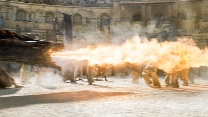 dragon fire on westeros is really punchy