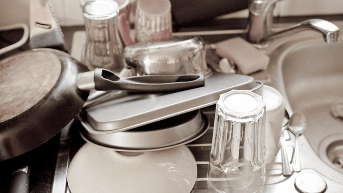 Nanoparticles will help you get through the washing up.  Flickr/Nik Stanbridge, CC BY-NC-ND