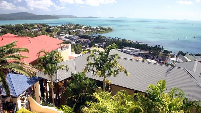 airlie beach view from above