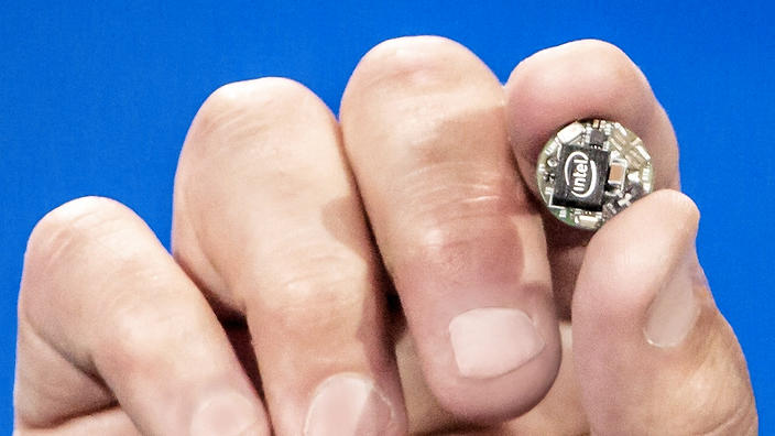 Intel Curie button sensor