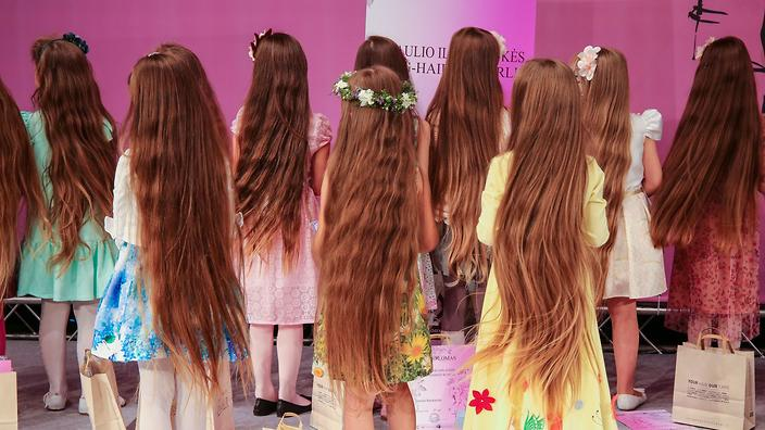 lithuanian girls compete in long hair contest sbs life