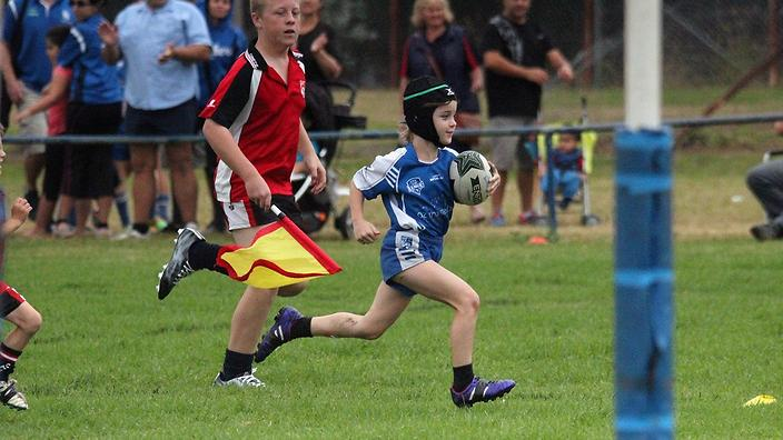 paige playing football