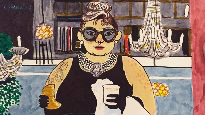 Artist redraws film favourites including a plus-sized Holly
