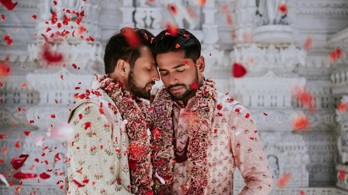 This gay couple threw an incredible traditional Hindu
