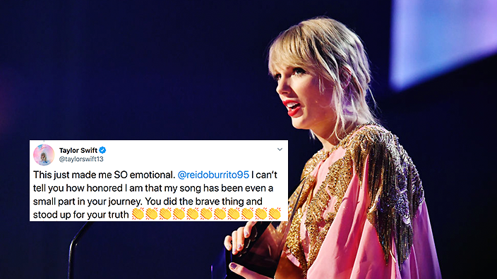Taylor Swift Tweets Fan Who Came Out To Her Song Sbs Pride Her narrative songwriting, which often centers around her personal life. taylor swift tweets fan who came out to