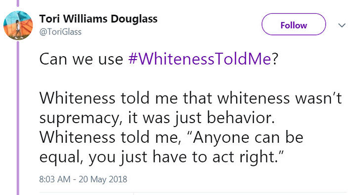 the twitter hashtag calling out whiteness sbs life