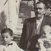 The writer's grandfather, a refugee who fled Turkey in 1923, with two of his grandsons in Greece in 1964.