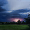 Lightning from last of the summer storms hits city