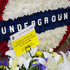 London, UK. Tuesday 7th July 2015. 10th anniversary of the London 7/7 bombings. Flowers are laid in memory of the victims of the terrorist attack in London.