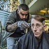Nasir Sobhani offers free haircuts to people who are homeless. He calls it his 'Clean Cut, Clean Start' initiative.