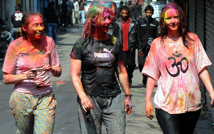 The tradition of Holi, also known as Festival of Colours, heralds the beginning of spring and is celebrated all over Nepal and neighboring country India.