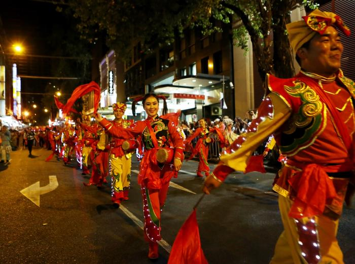 File: Performers in this year's Chinese New Year Twilight Parade in Sydney