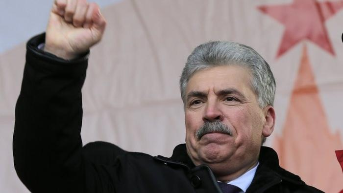 Presidential candidate of the Russian Communist Party Pavel Grudinin