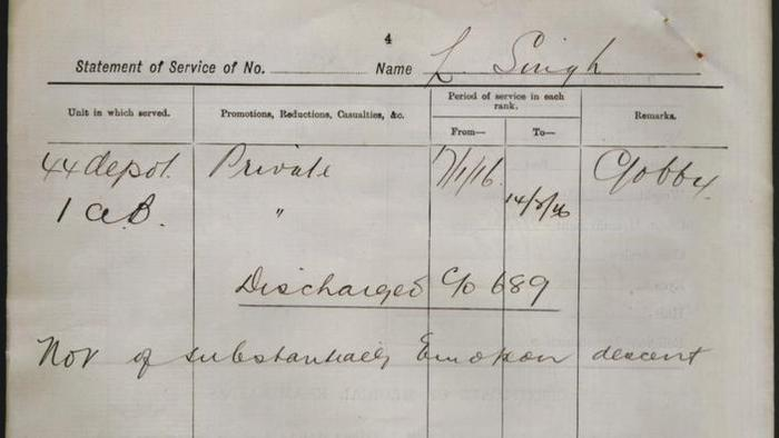 From the AIF records of Pte Linna Singh