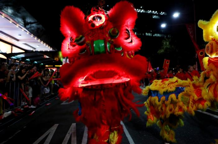 Performers in this years Chinese New Year Twilight Parade in Sydney
