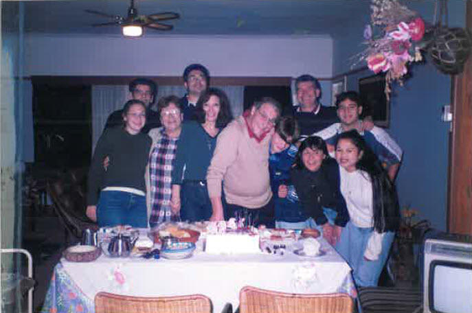 Pocho with his family