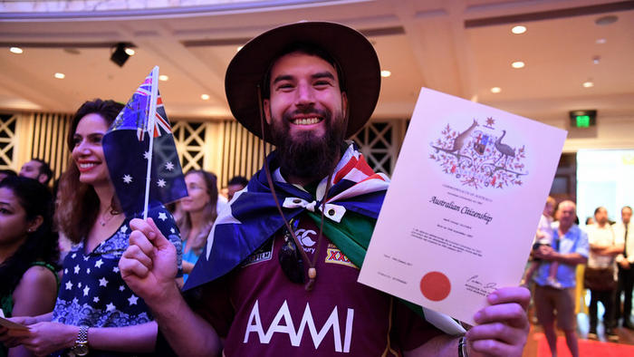 A citizenship ceremony on Australia Day in Brisbane, Thursday, Jan. 26, 2017