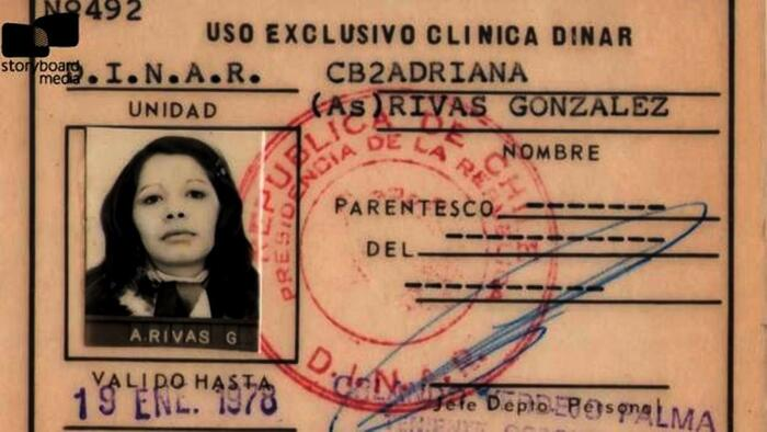 Adriana Rivas ID in the DINAR, January 1978