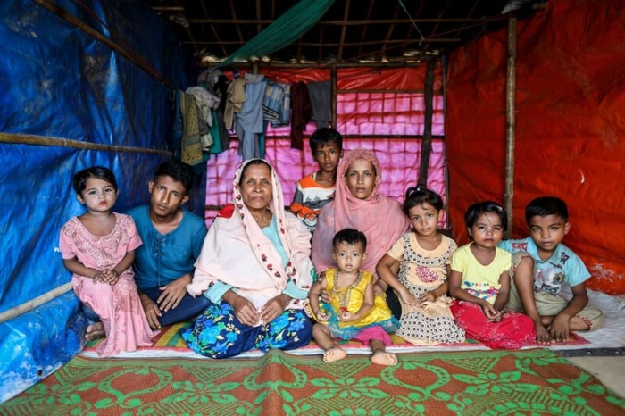 Yanus family at the refugee camp (photo by GMB Akash)