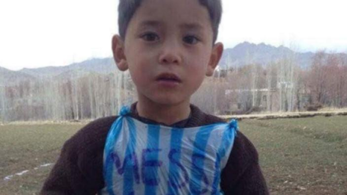 3d6e051fd Lionel Messi soon to meet his 5-year-old Afghan fan - Murtaza Ahmadi ...